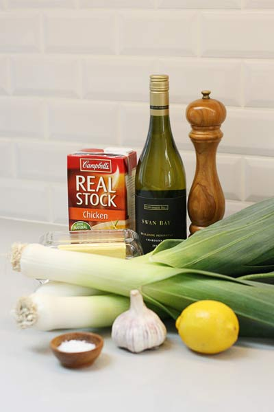 Braised Leeks with Garlic and White Wine | The A to B of ...