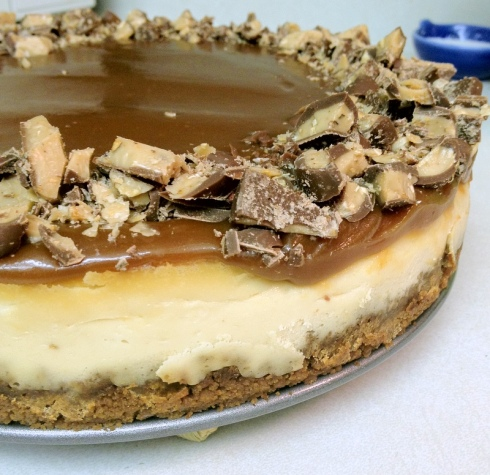 Toffee Crunch Caramel Cheesecake | The A to B of Cooking