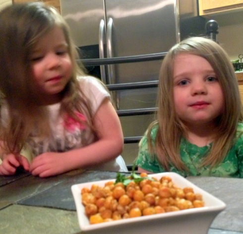 1-Spiced Roasted Chickpeas_in bowl w girls