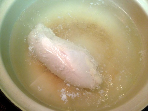 poached chicken