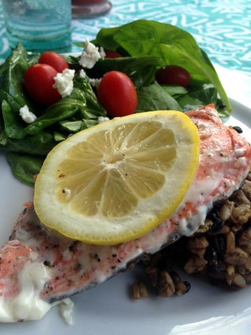 plated salmon
