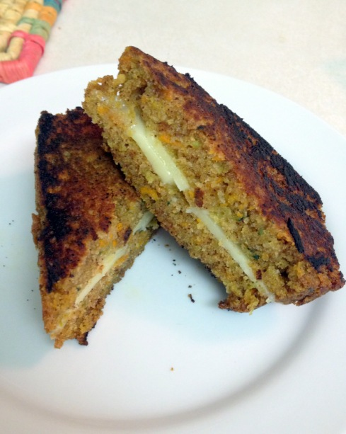Carrot Zucchini Bread grilled cheese