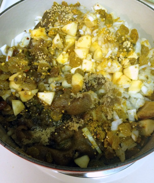 1-Curried Apple Chutney 013