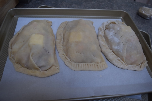 Pasties on pan